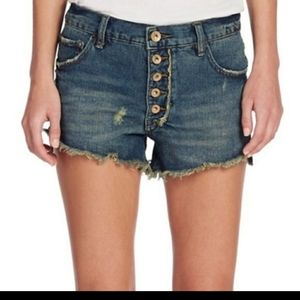 Free People Runaway Slouch Cut Off Shorts
